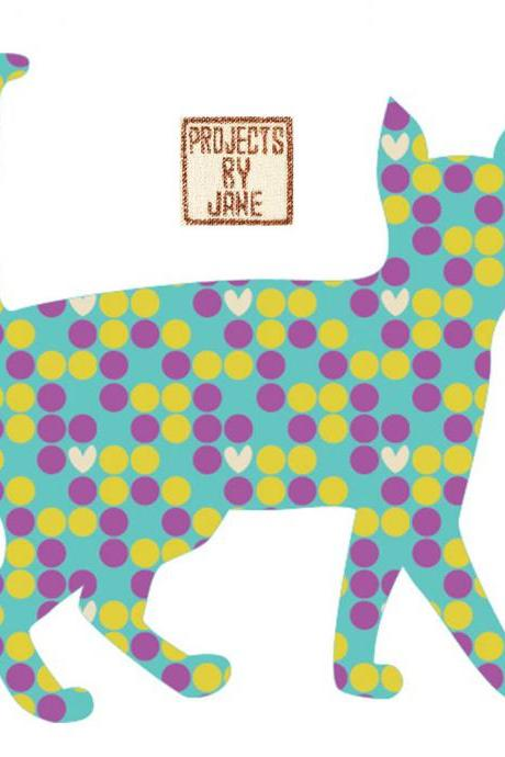 Walkinging Cat applique template - PDF applique pattern