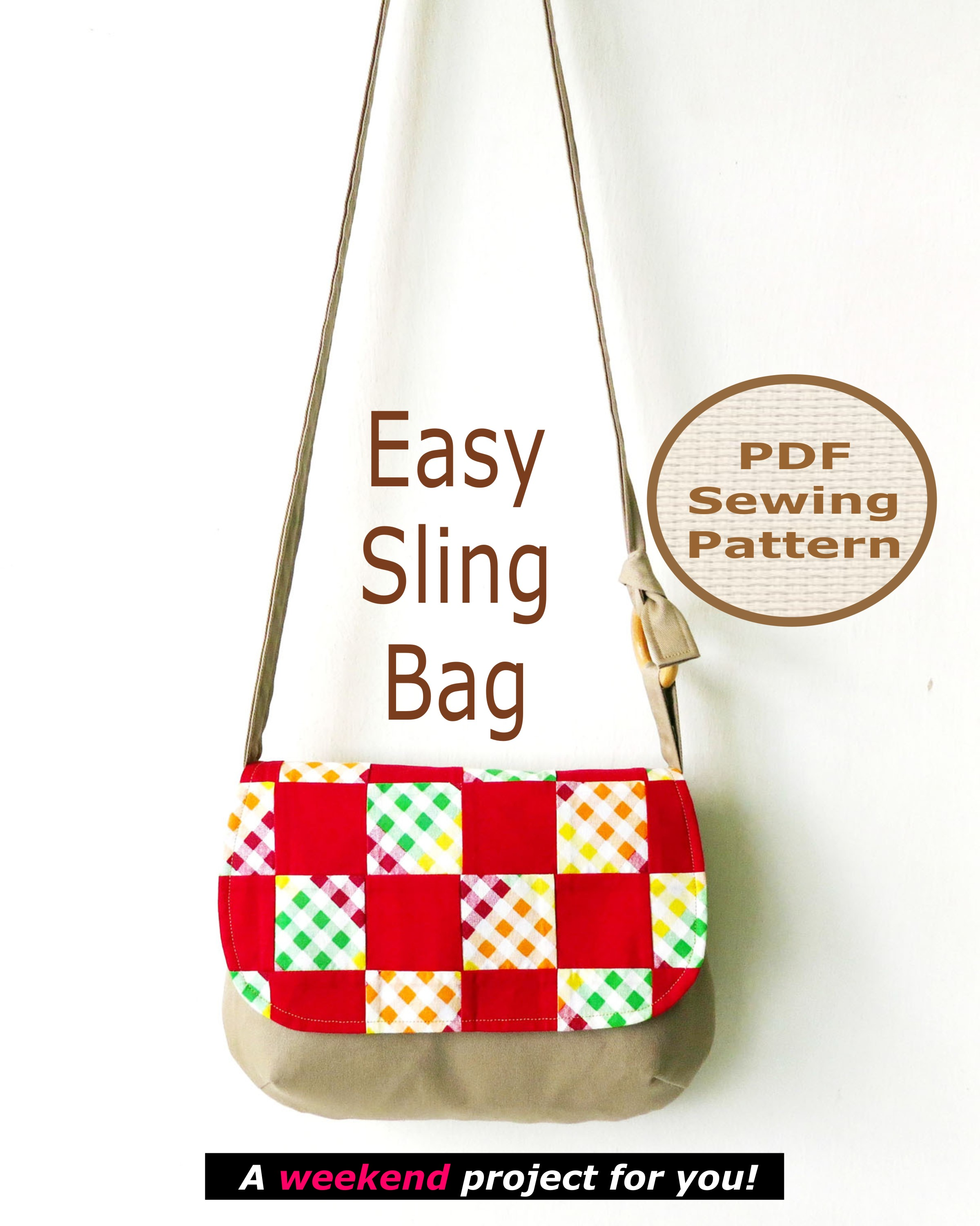 Easy Sling Bag Pattern on Luulla